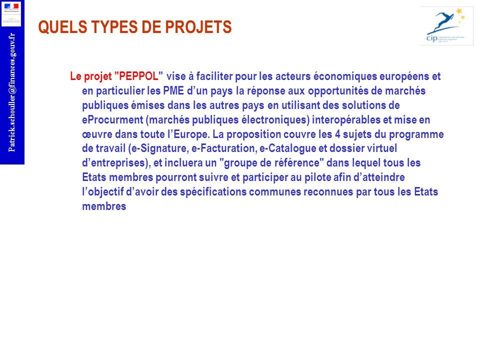 QUELS TYPES DE PROJETS