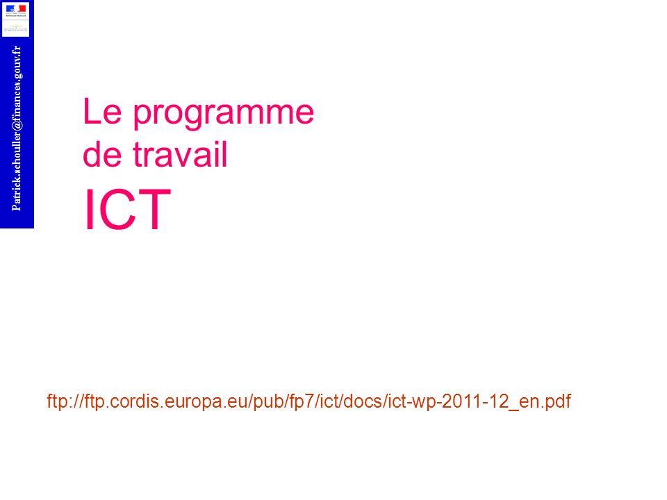 Le programme de travail ICT