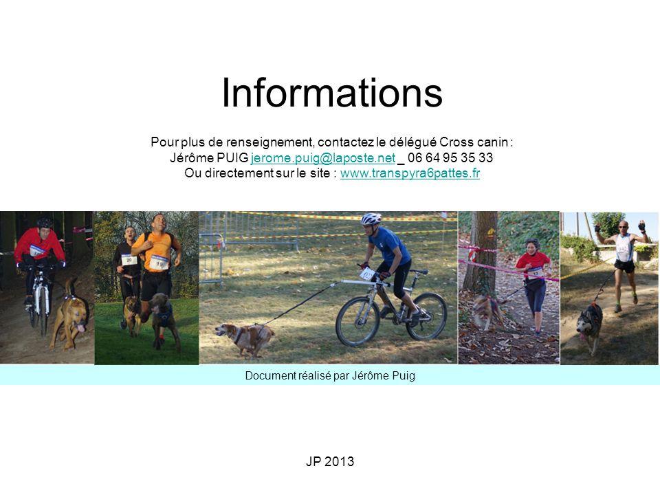Informations Pour plus de renseignement, contactez le délégué Cross canin : Jérôme PUIG jerome.puig@laposte.net _ 06 64 95 35 33.