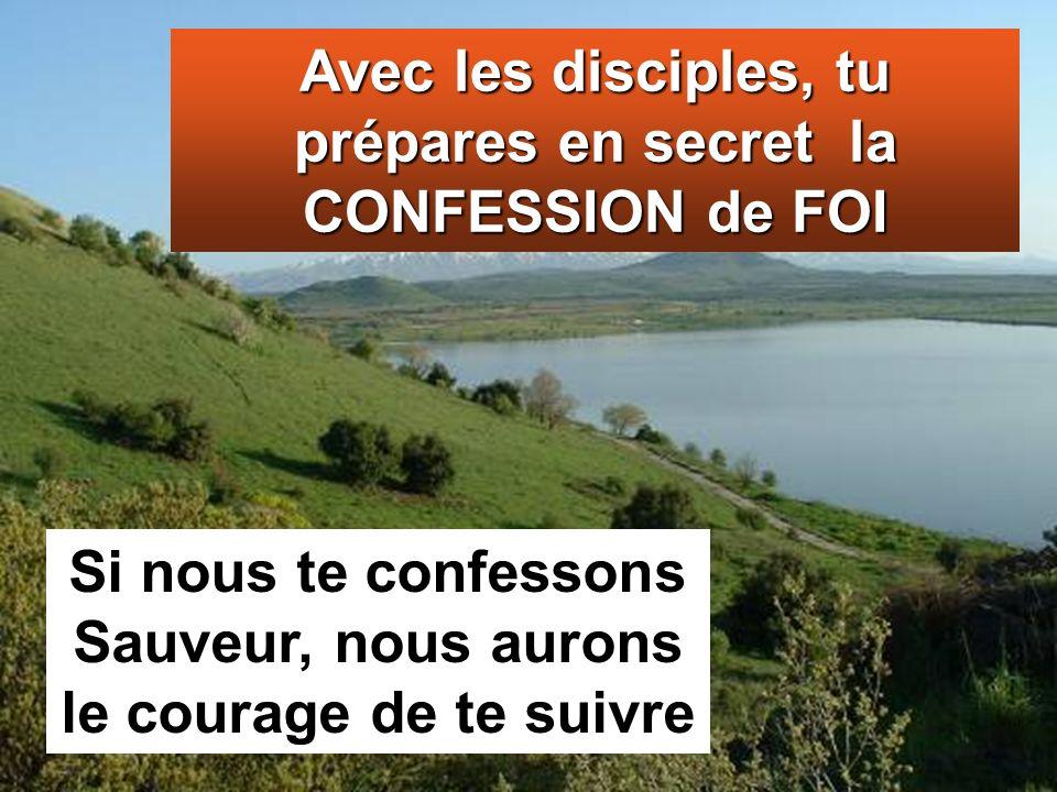 Avec les disciples, tu prépares en secret la CONFESSION de FOI