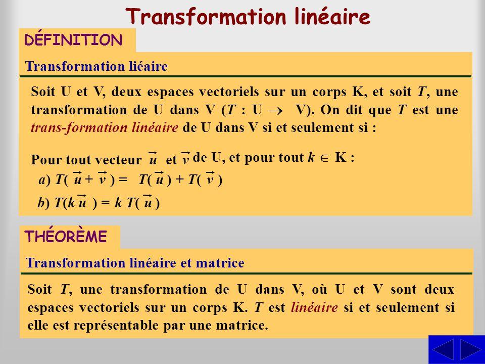 Transformation linéaire
