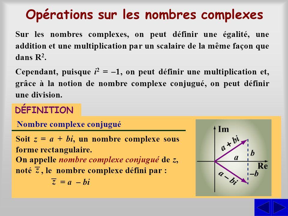 Opérations sur les nombres complexes
