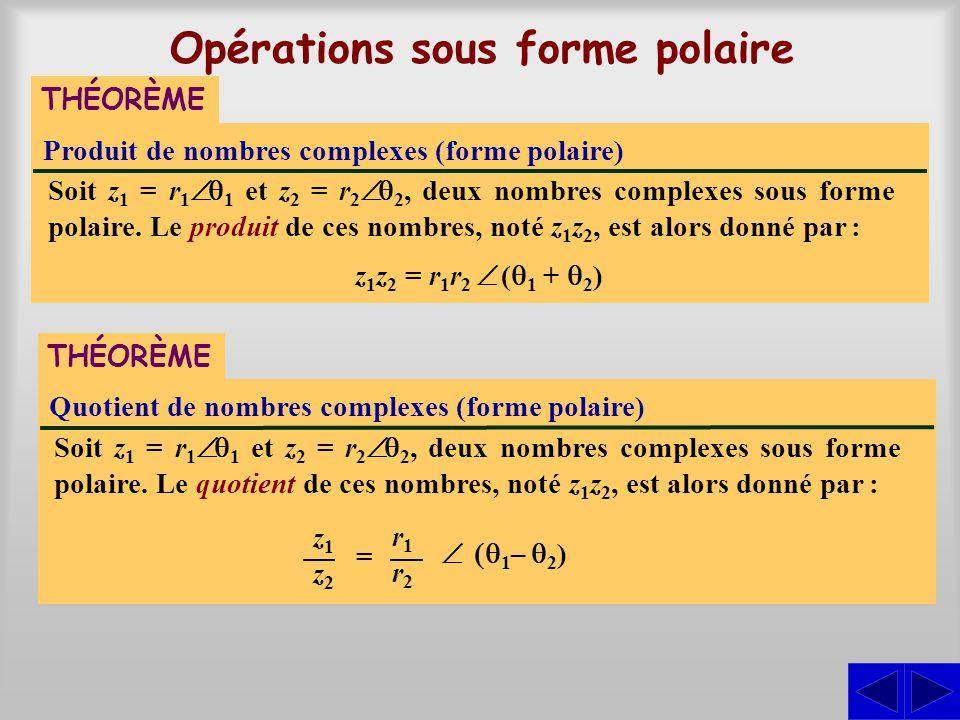 Opérations sous forme polaire
