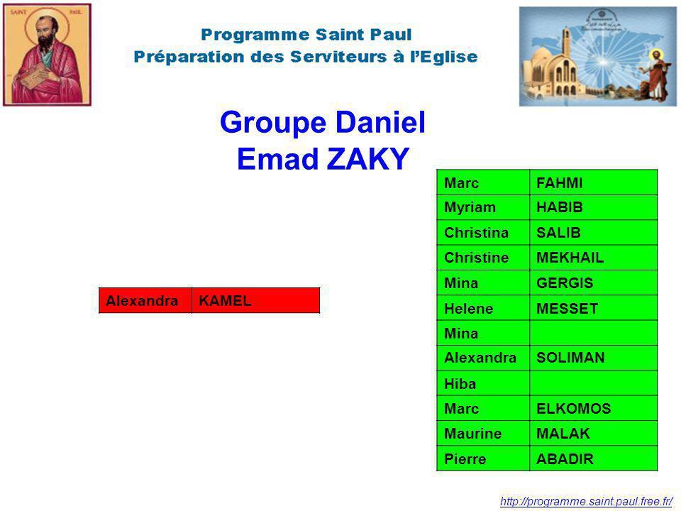 Groupe Daniel Emad ZAKY