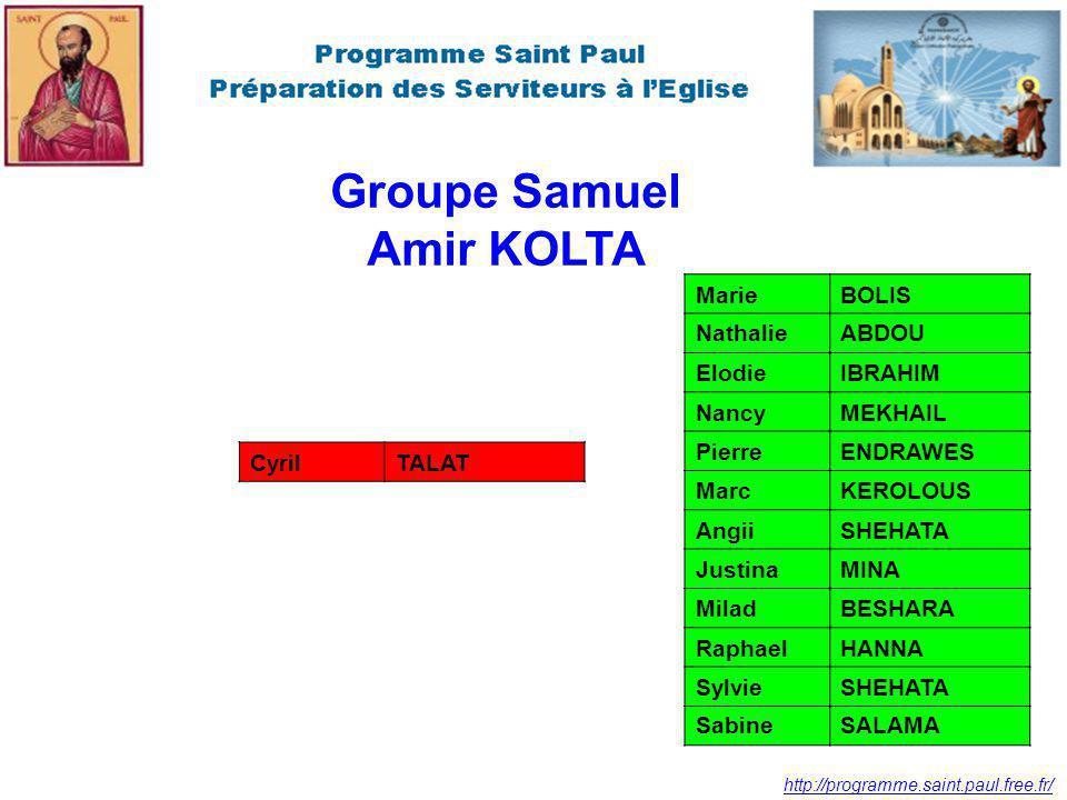 Groupe Samuel Amir KOLTA