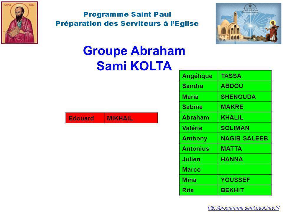 Groupe Abraham Sami KOLTA