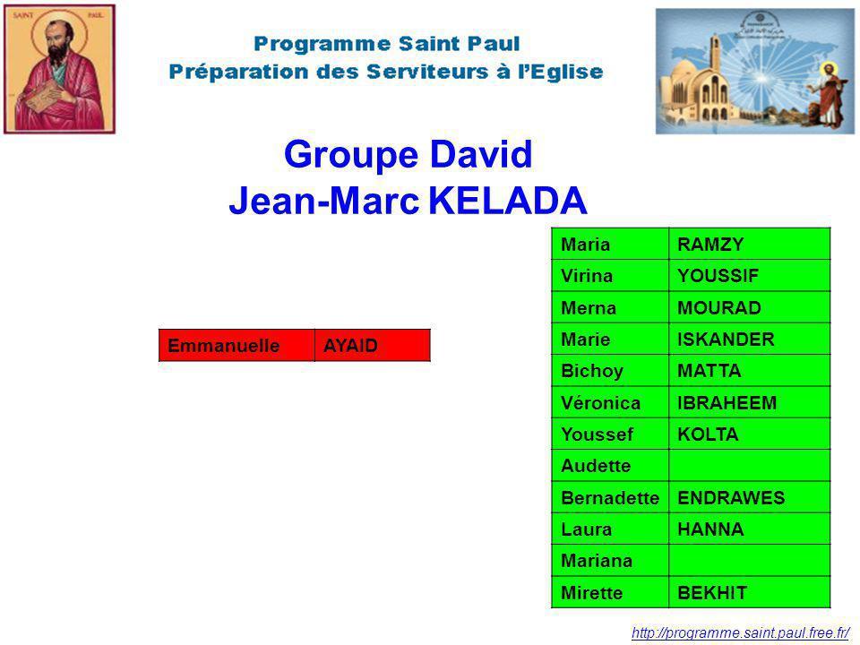 Groupe David Jean-Marc KELADA
