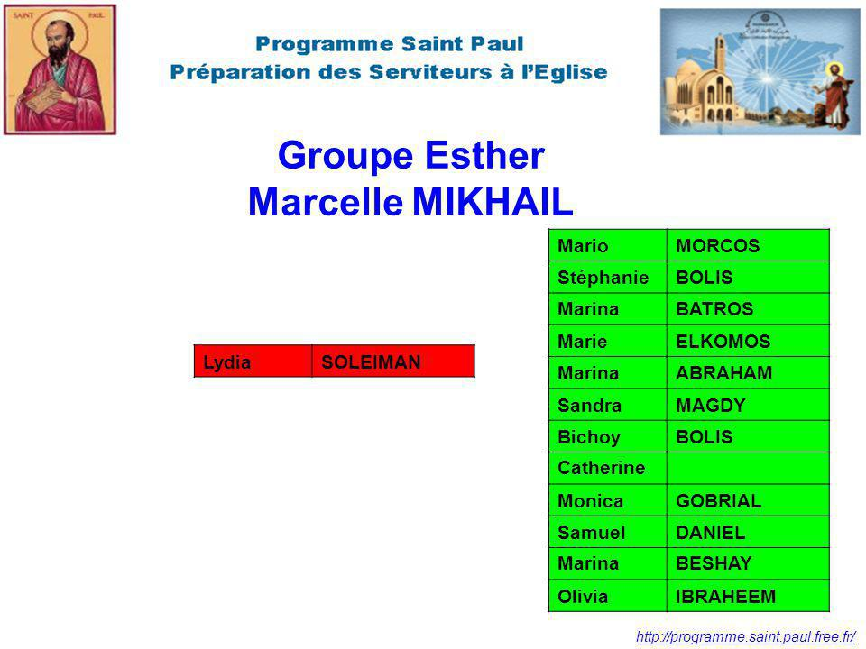 Groupe Esther Marcelle MIKHAIL
