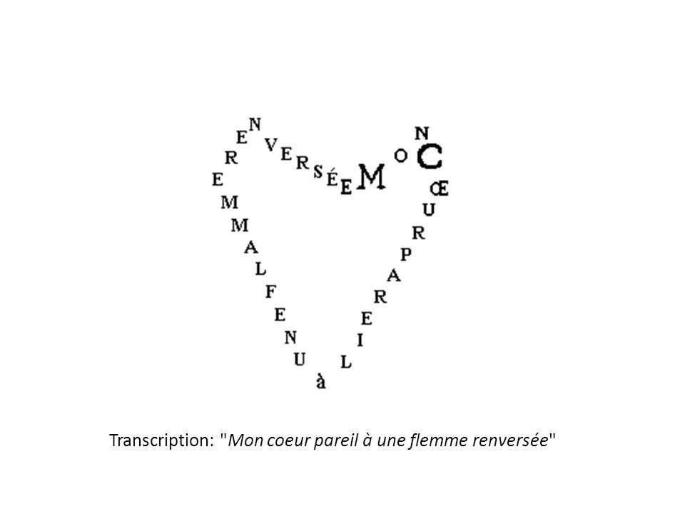Transcription: Mon coeur pareil à une flemme renversée