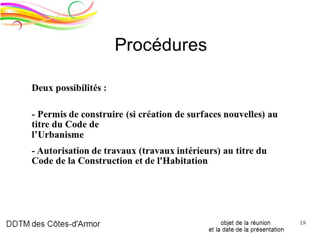 Mise en accessibilit des tablissements recevant du for Autorisation de construction