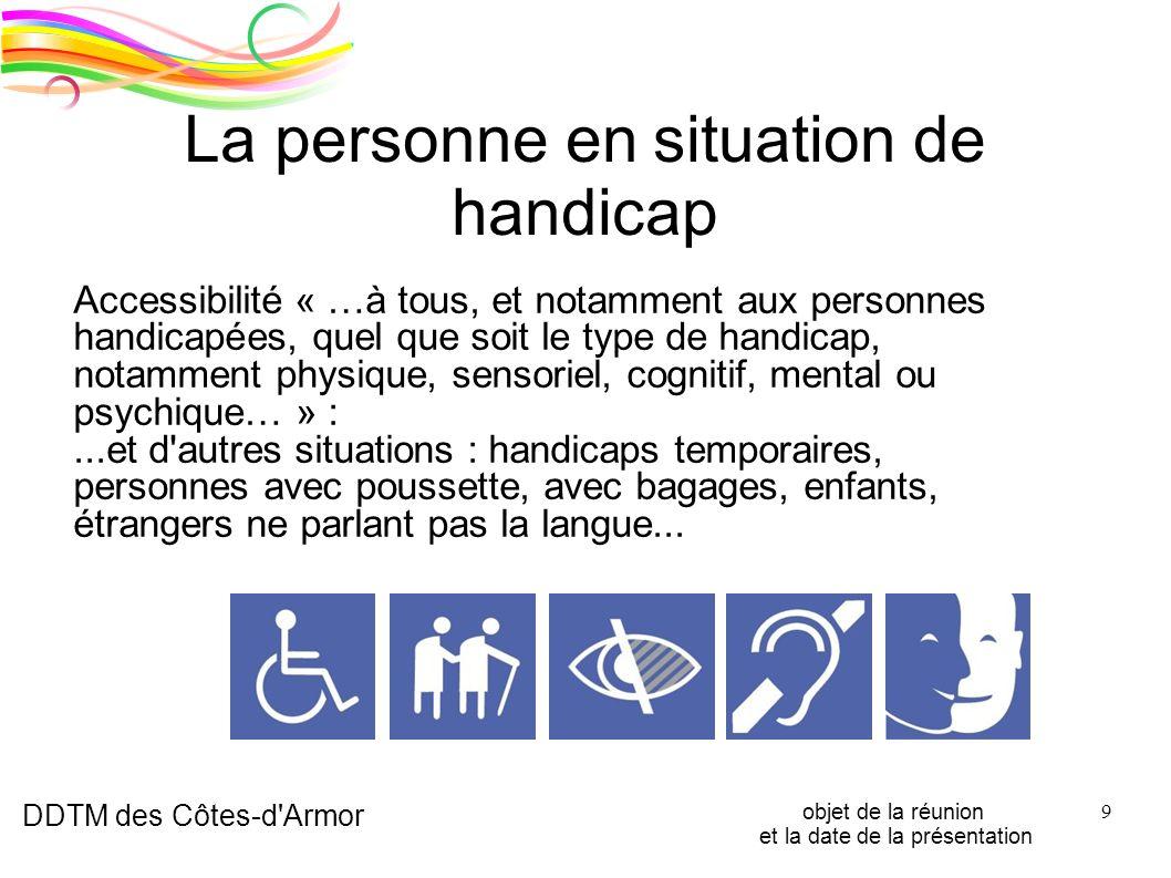 La personne en situation de handicap