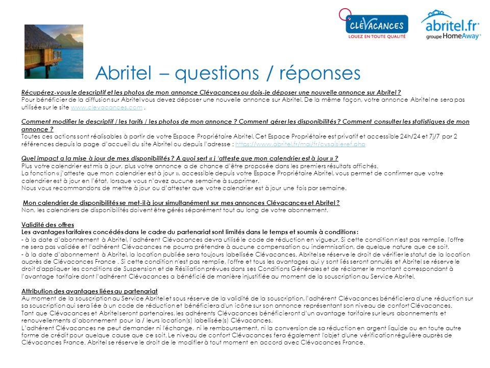 Abritel – questions / réponses