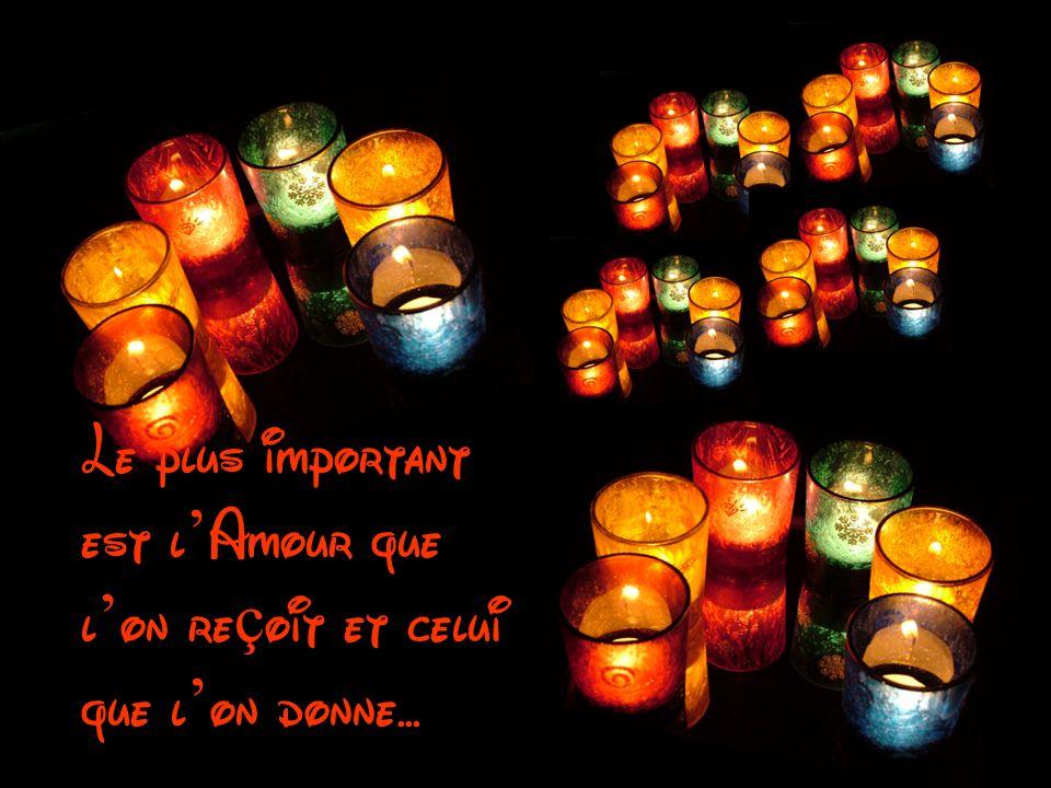 Le plus important est l'Amour que l'on reçoit et celui que l'on donne...