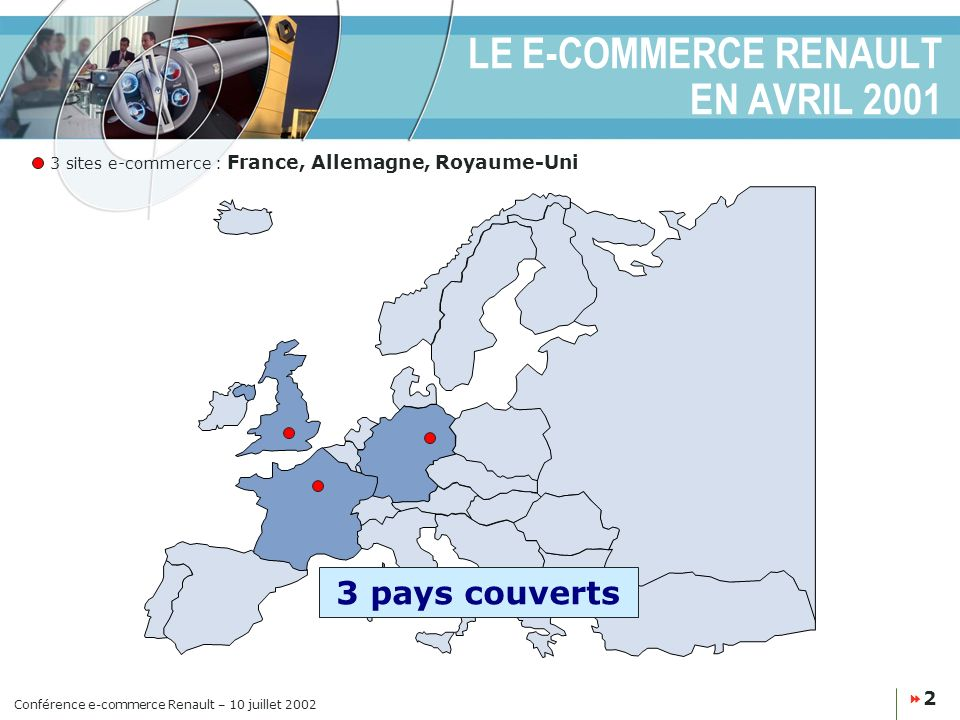 LE E-COMMERCE RENAULT EN AVRIL 2001