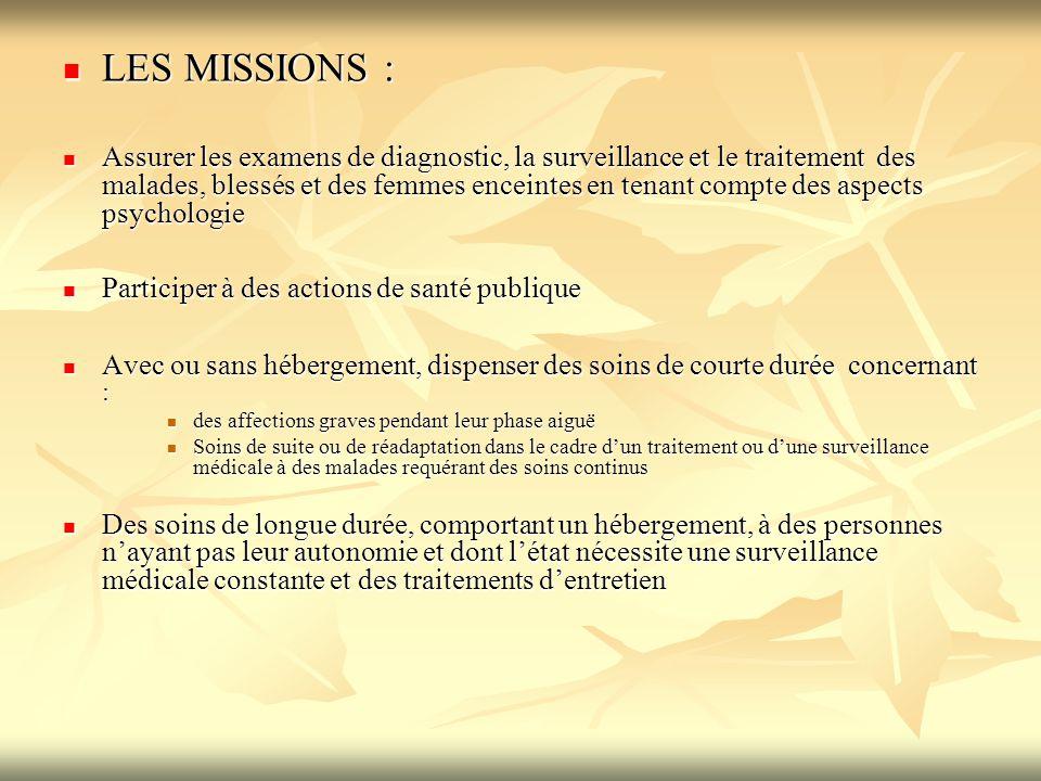 LES MISSIONS :