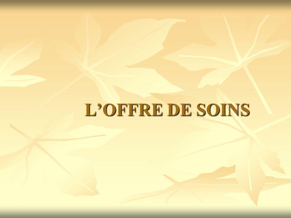 L'OFFRE DE SOINS