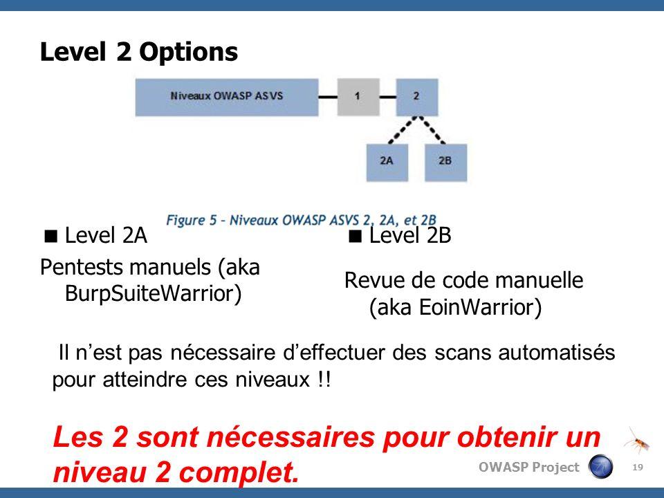 Les 2 sont nécessaires pour obtenir un niveau 2 complet.