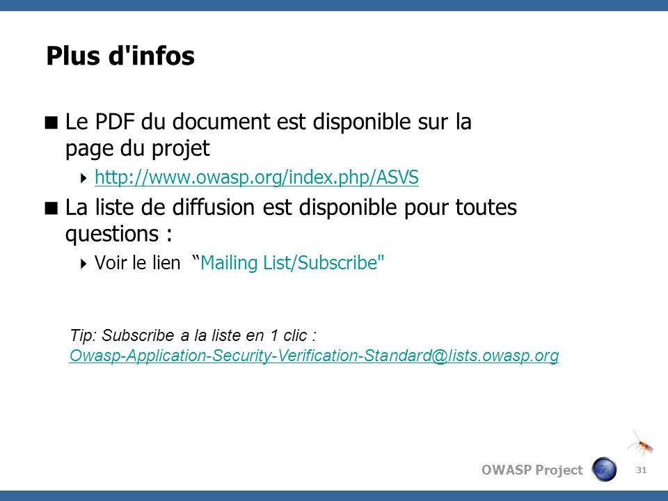 Plus d infos Le PDF du document est disponible sur la page du projet