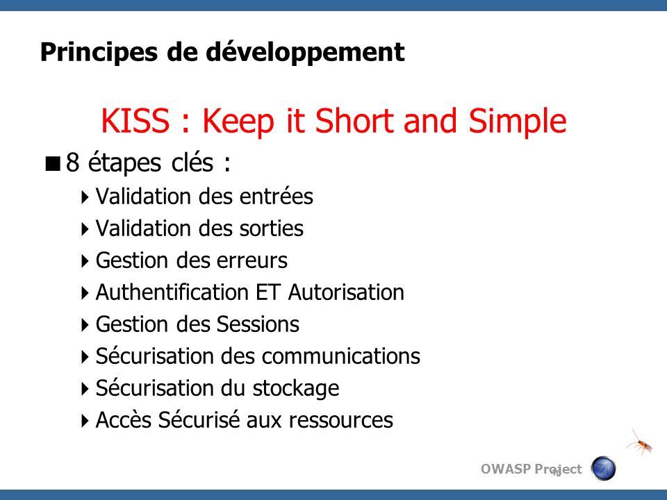 Principes de développement