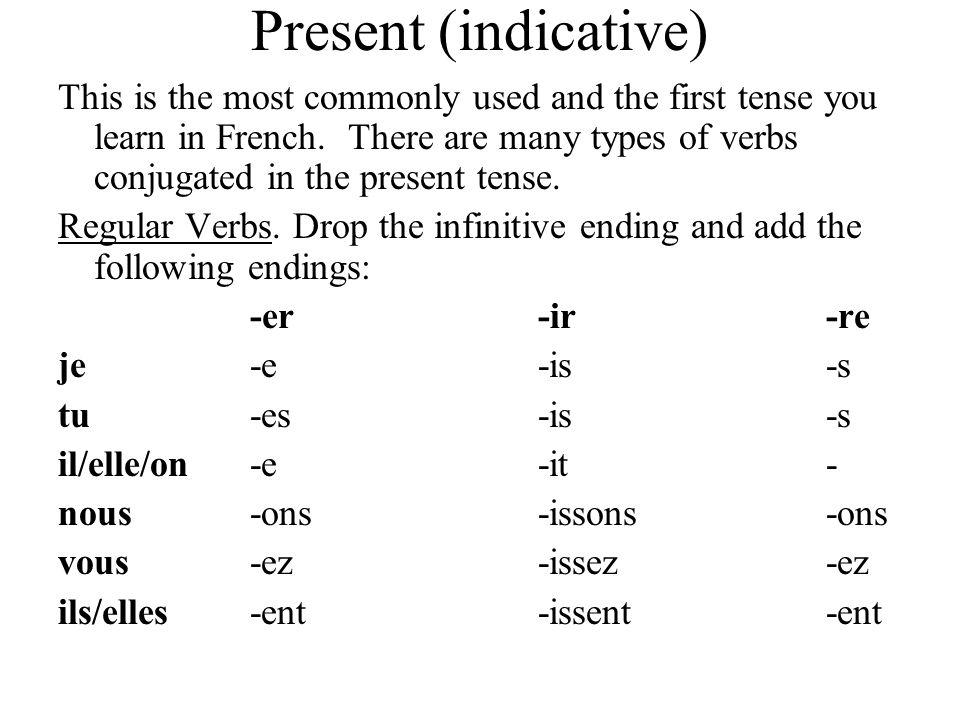 Present (indicative)