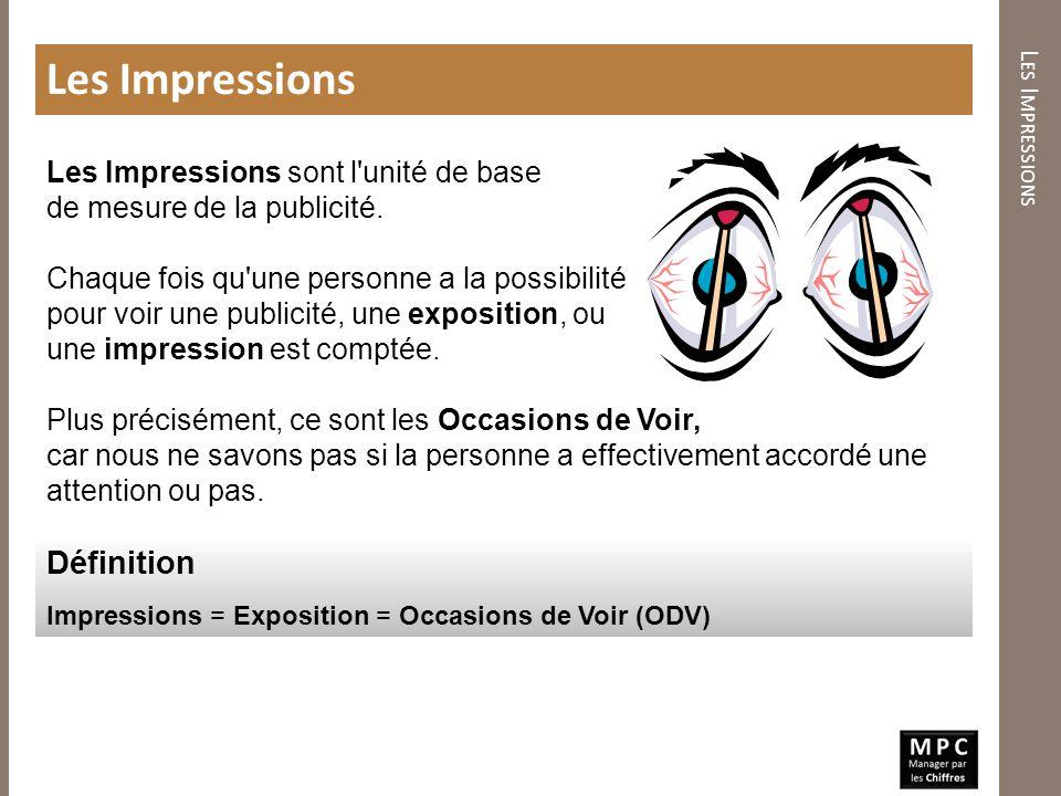 Les Impressions Définition Les Impressions sont l unité de base