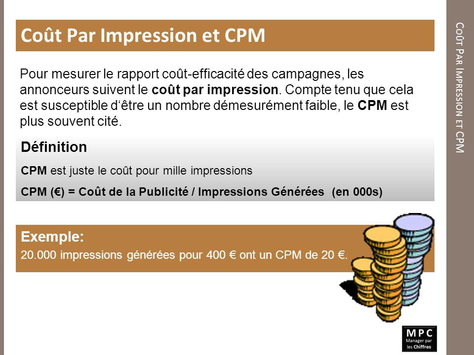 Coût Par Impression et CPM