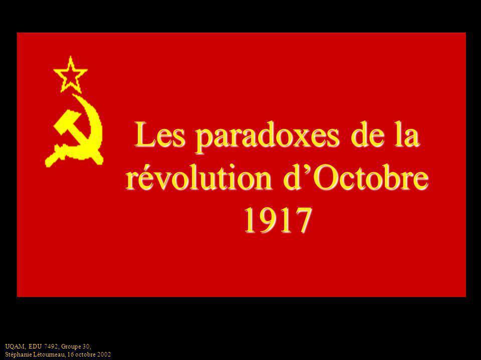 Les paradoxes de la révolution d'Octobre 1917
