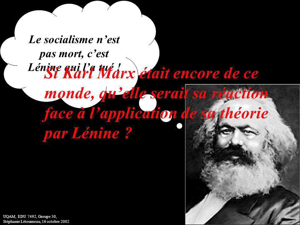 Le socialisme n'est pas mort, c'est Lénine qui l'a tué !