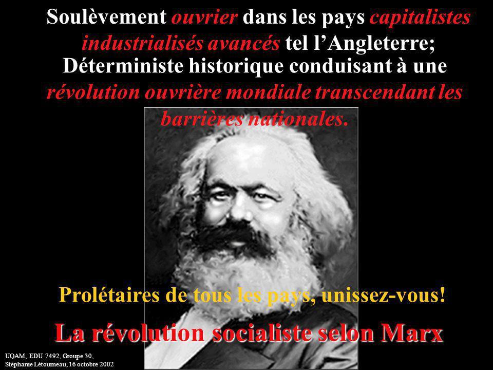 La révolution socialiste selon Marx