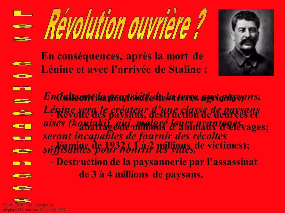 Révolution ouvrière Les conséquences