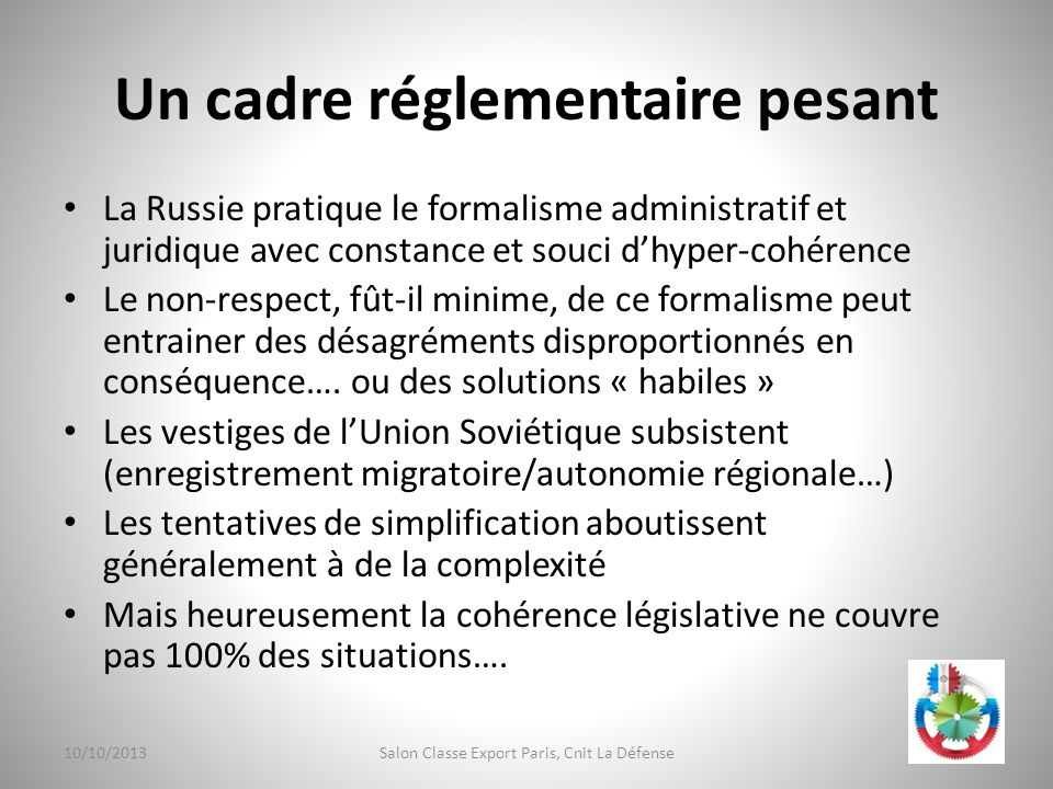 Un cadre réglementaire pesant