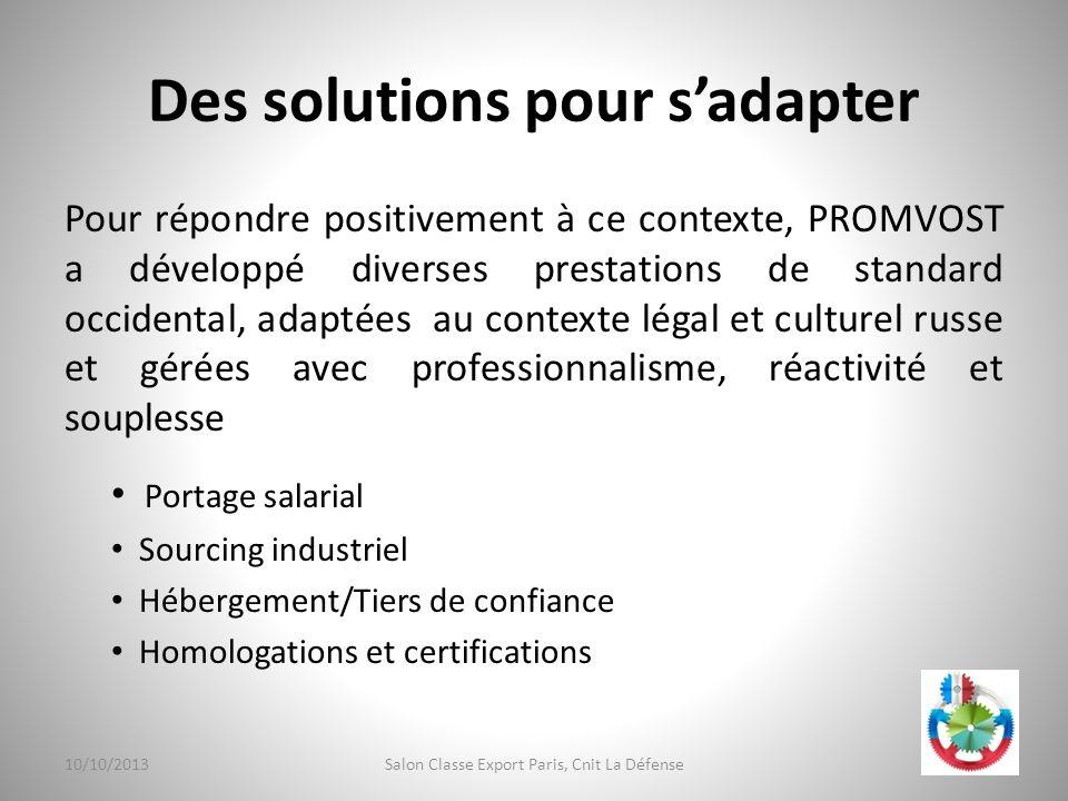 Des solutions pour s'adapter
