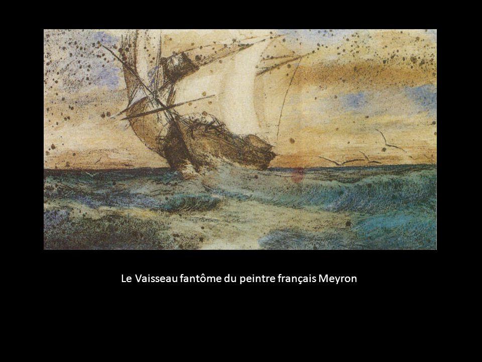 Le Vaisseau fantôme du peintre français Meyron