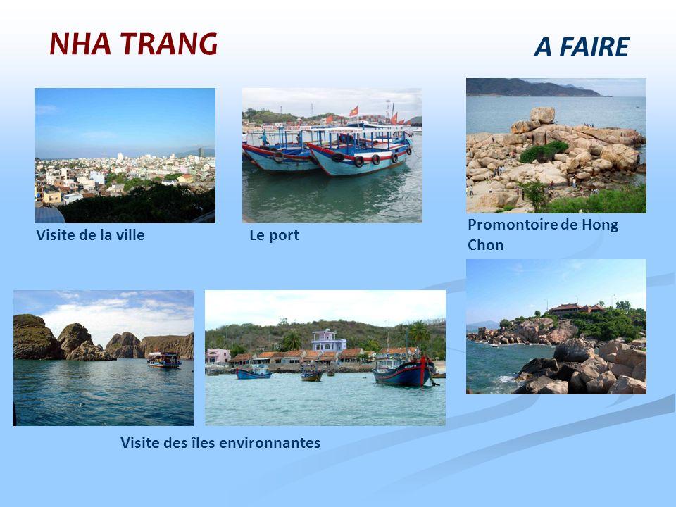 Visite des îles environnantes