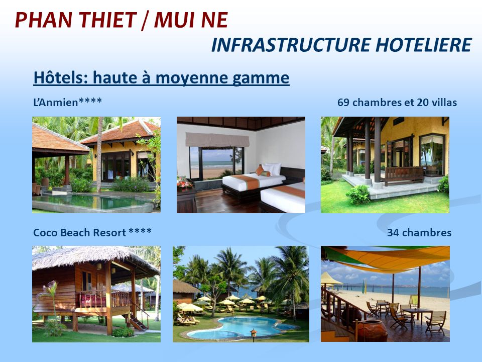 PHAN THIET / MUI NE INFRASTRUCTURE HOTELIERE