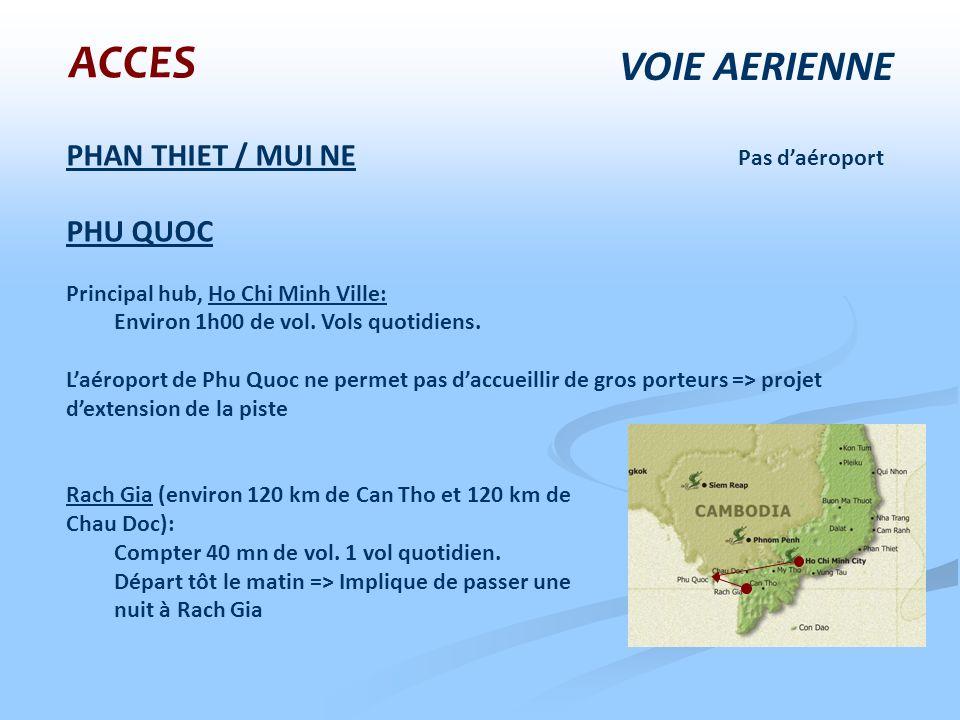 ACCES VOIE AERIENNE PHAN THIET / MUI NE Pas d'aéroport PHU QUOC
