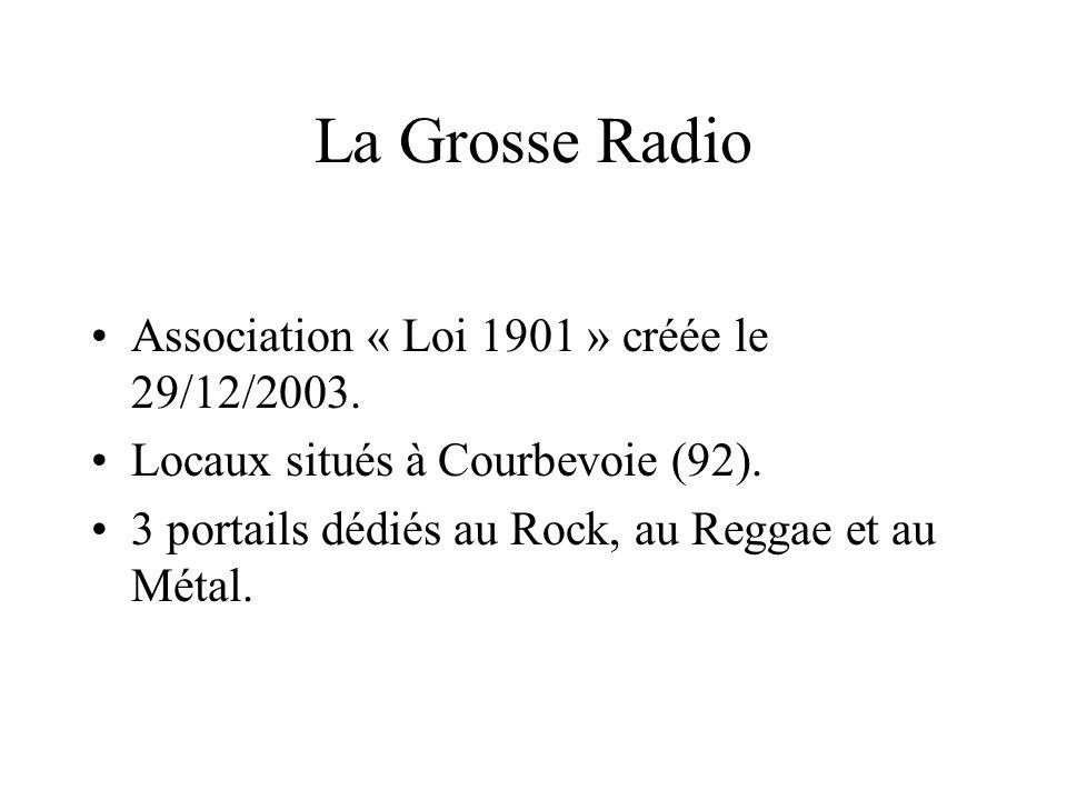 La Grosse Radio Association « Loi 1901 » créée le 29/12/2003.