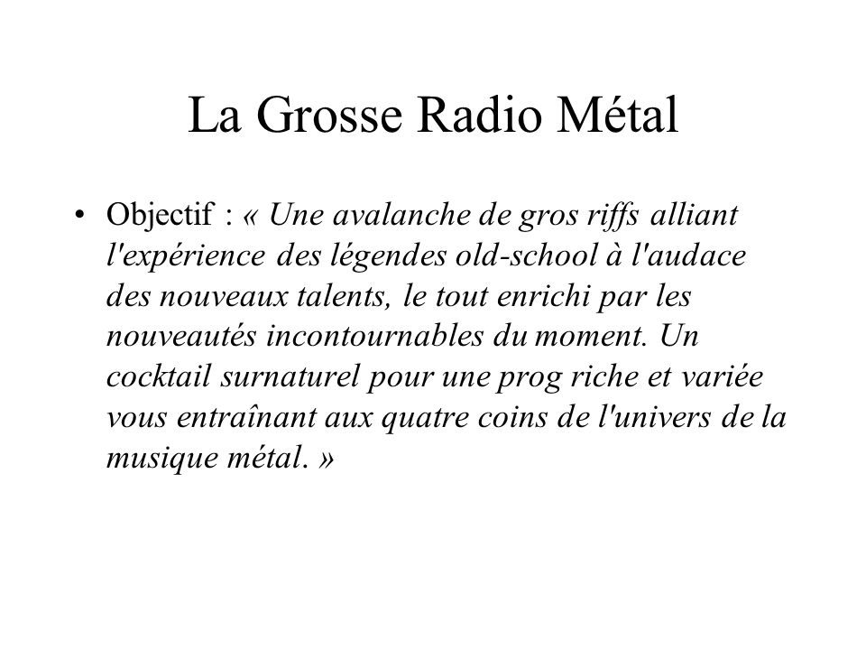 La Grosse Radio Métal