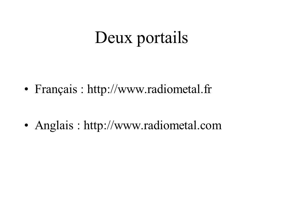 Deux portails Français : http://www.radiometal.fr