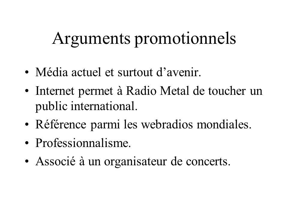 Arguments promotionnels