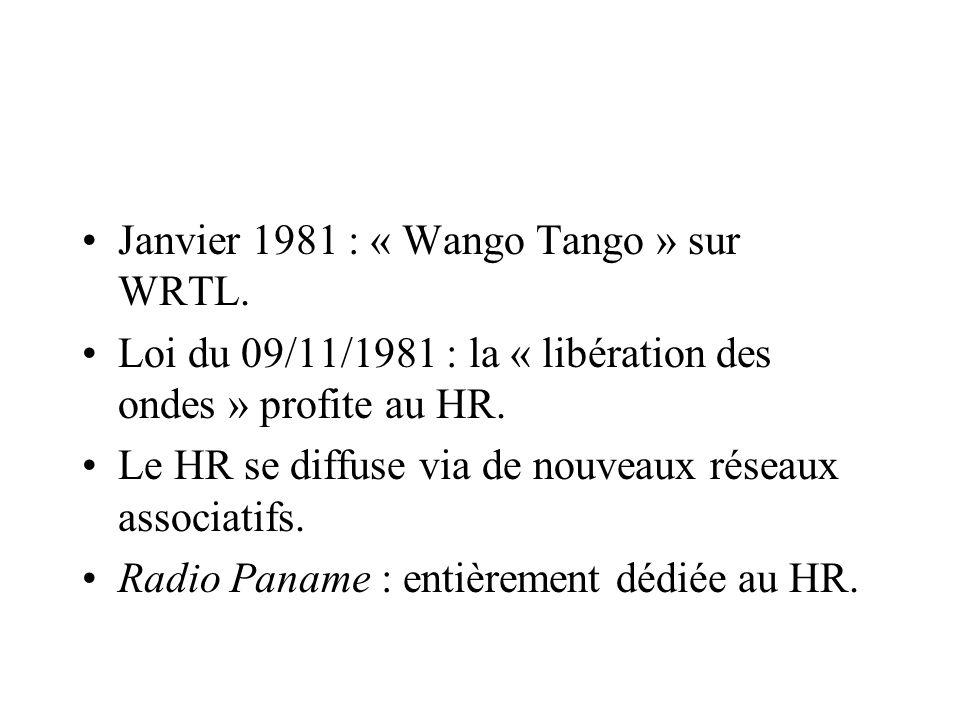 Janvier 1981 : « Wango Tango » sur WRTL.