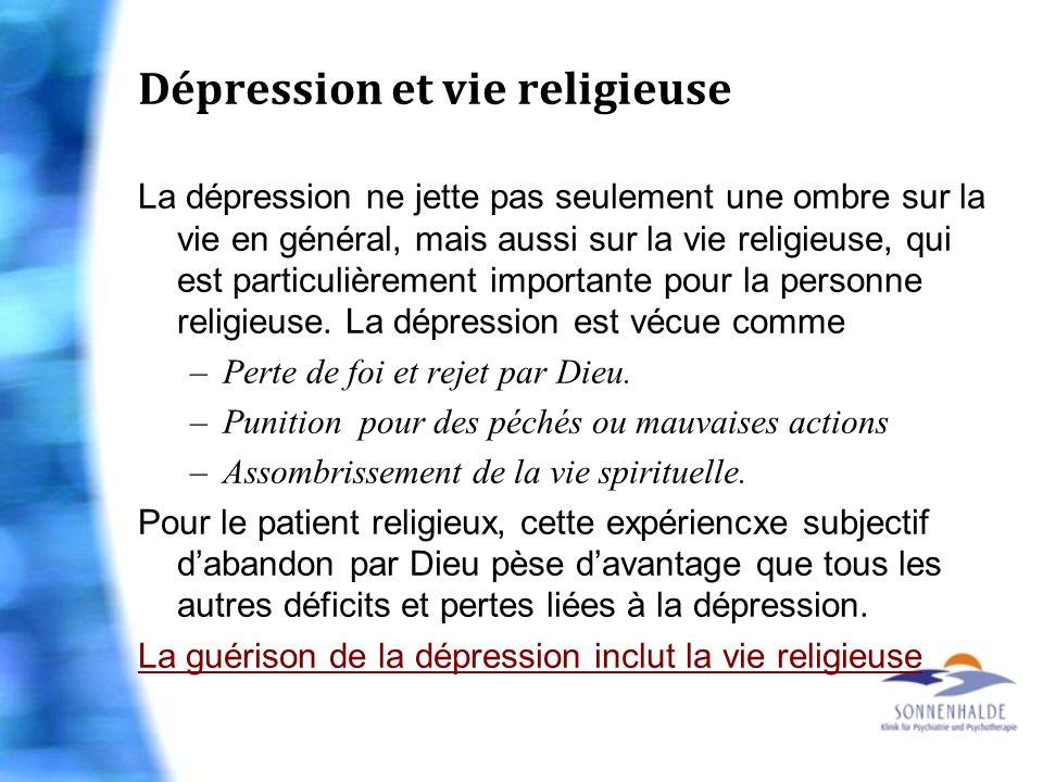 Dépression et vie religieuse