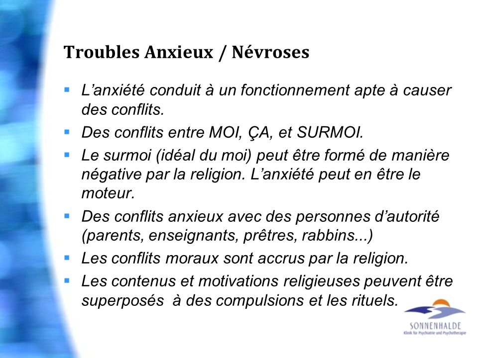 Troubles Anxieux / Névroses