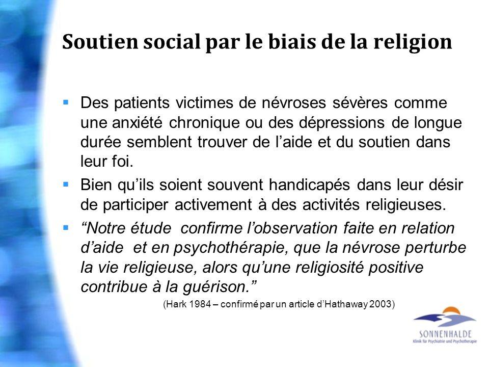 Soutien social par le biais de la religion