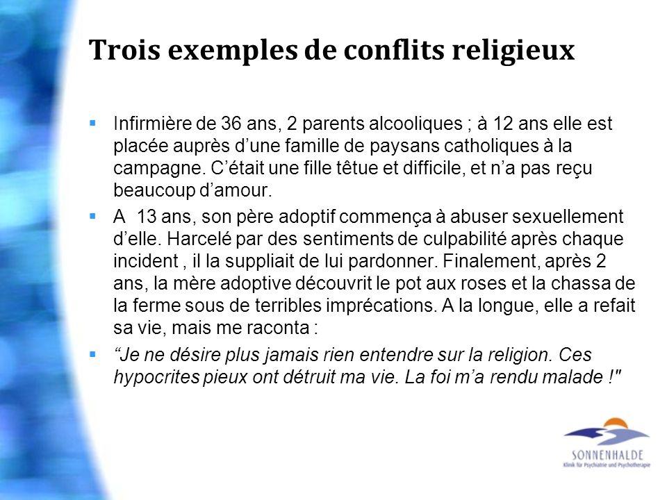 Trois exemples de conflits religieux