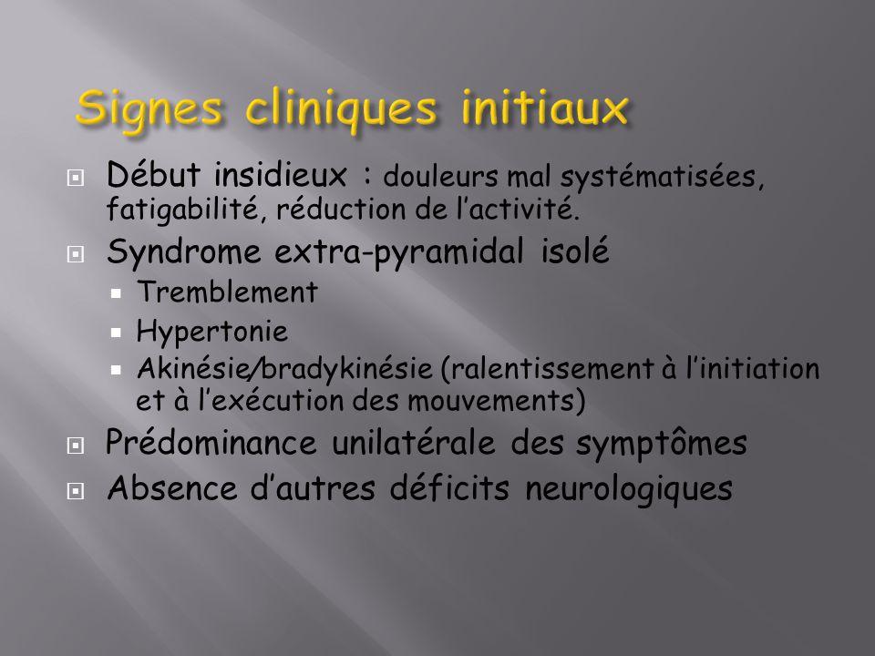 Signes cliniques initiaux