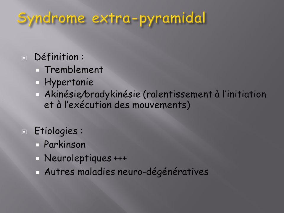 Syndrome extra-pyramidal
