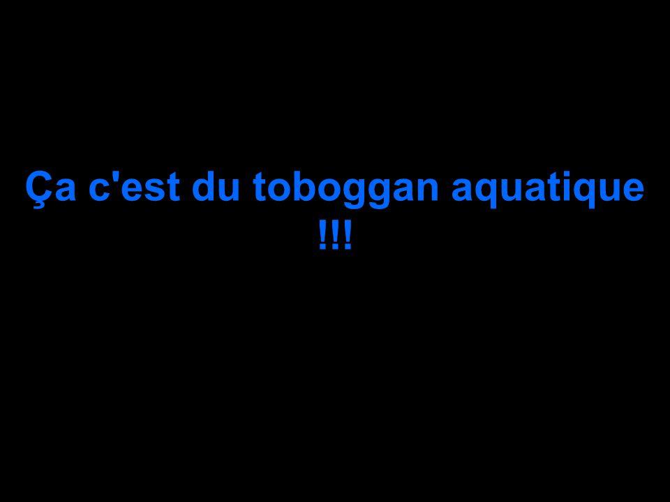 Ça c est du toboggan aquatique !!!