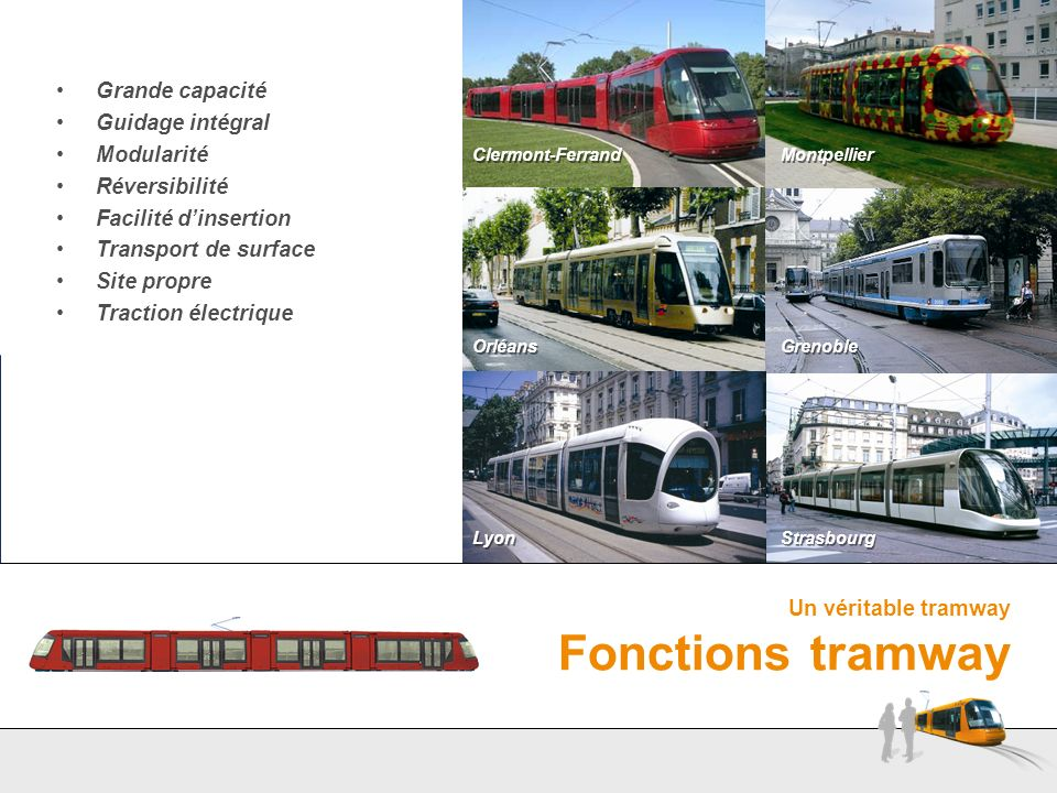 Un véritable tramway Fonctions tramway