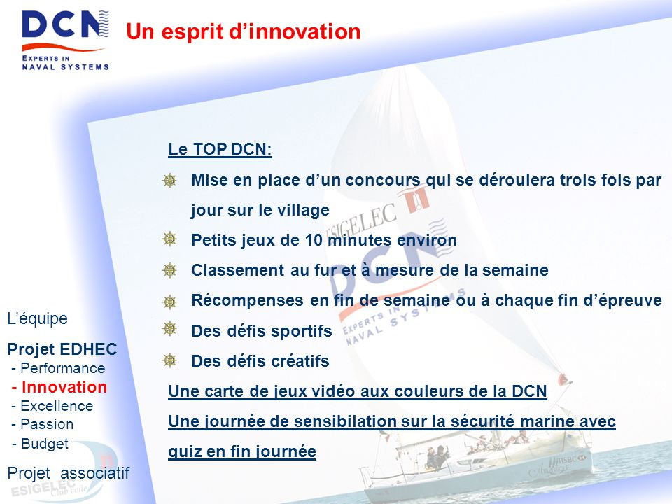 Un esprit d'innovation